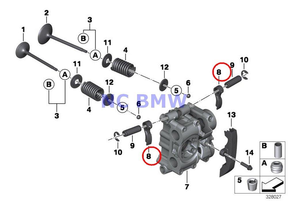 12 X BMW Genuine Motorcycle Timing Gear Rocker Arm A15 G450X R nine T R1200GS R1200GS Adventure R1200RT R1200R HP2 Sport K1200S K1300S K1200R K1200R Sport K1300R K1200GT K1300GT F700GS F800GT F800S by BMW