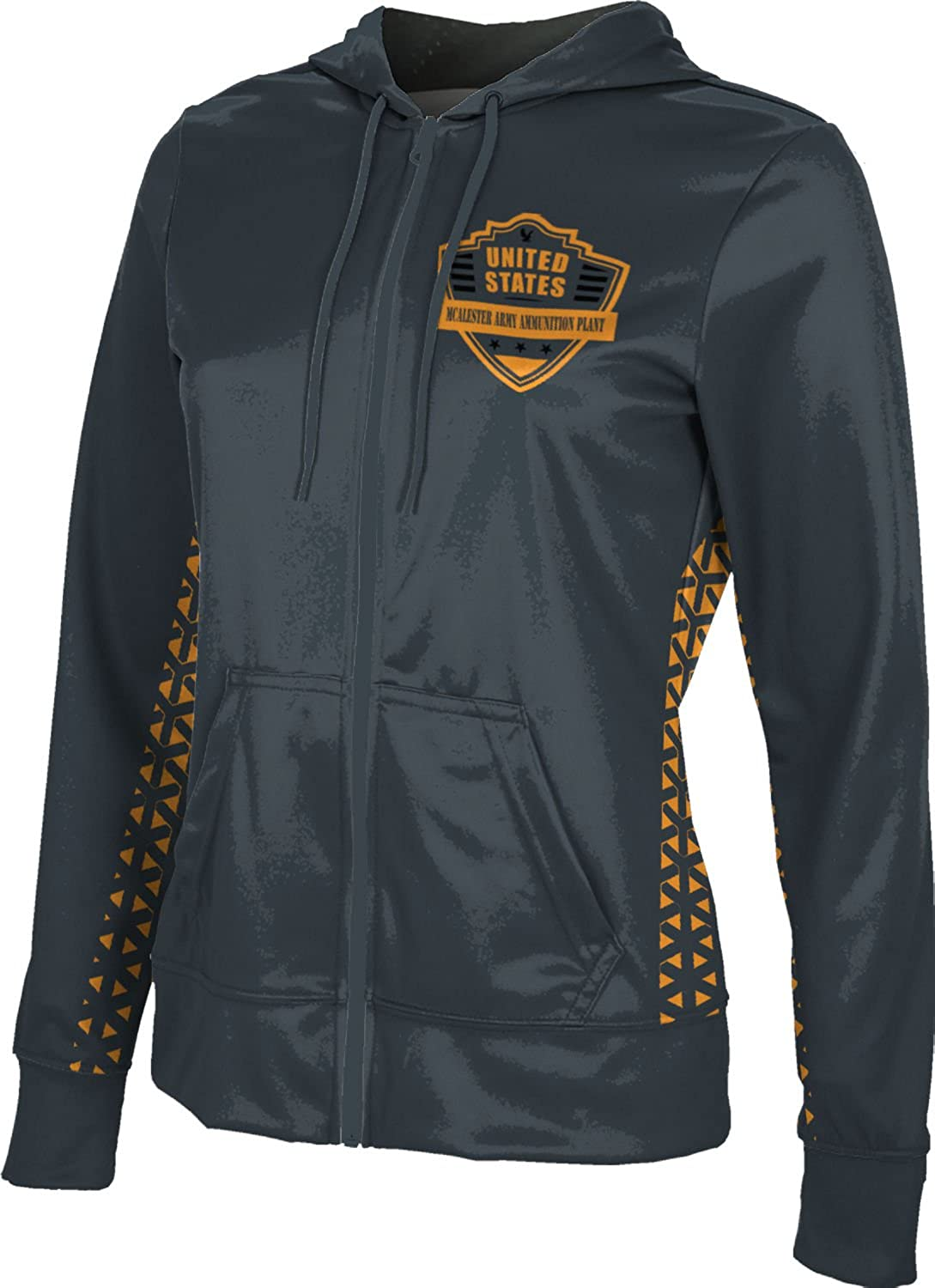 Women's Mcalester Army Ammunition Plant Military Geometric Fullzip Hoodie
