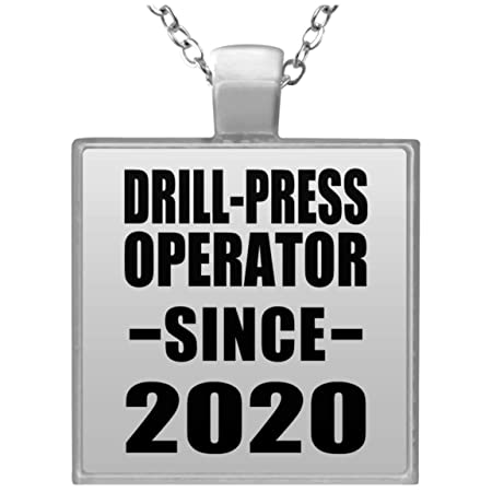 Drill-Press Operator Since 2020 - Square Necklace Collar ...