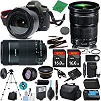 Canon EOS 5D Mark III Camera + 24-105mm STM + 55-250mm STM + 2pcs 16GB Memory + Case + Reader + Tripod + ZeeTech Starter Set + Wide Angle + Telephoto + Flash + Battery + Charger
