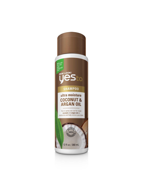 Yes To Naturals Coconut & Argan Oil Ultra Moisture Shampoo for Dry & Damaged Hair, 12 Fluid Ounce