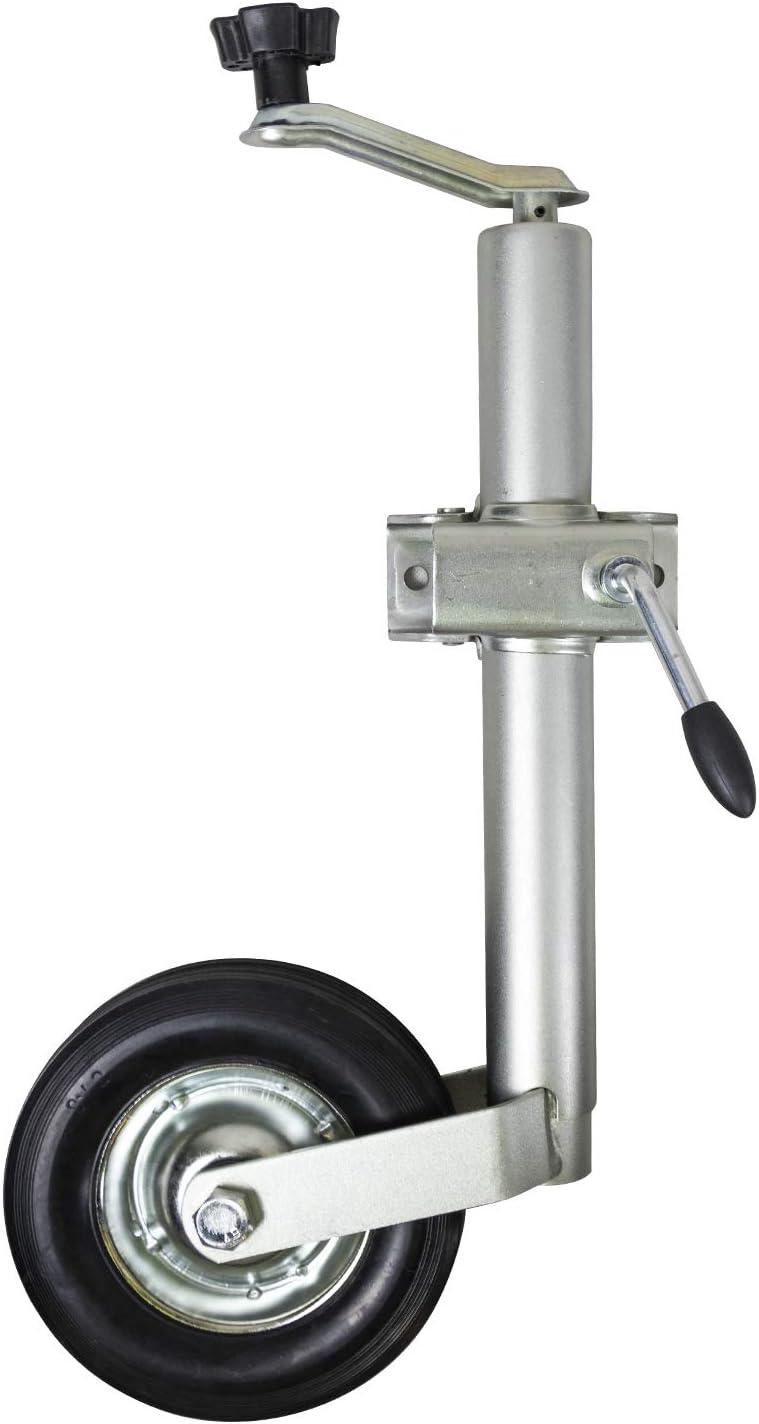 Andes Heavy Duty 48mm Split Clamp Jockey Wheel Wind Up Trailer Stand