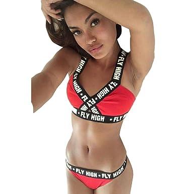 fc8c7243e751e1 Teaio Damen Sport BH mit Unterwäsche Dessous Set Fitness-Training Strech BH  Bustier Sexy Push up BH Sports Bra Ohne Bügel Gepolstert