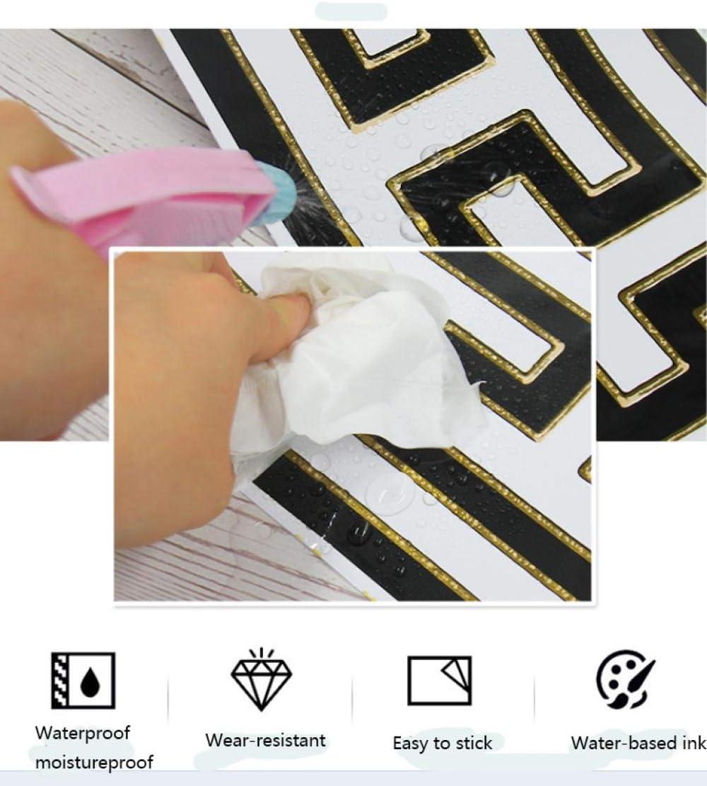 blanco y negroAuto Adhesivo del Papel Pintado del PVC Cenefa autoadhesiva para decoraci/ón de pared de cocina Borde del papel pintado Amarillo ba/ño15CM*1000CM