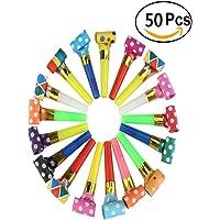 Ankamal Elec 50 paquetes de música, juguetes de silbato, fiesta de cumpleaños, favorito, fiesta de Navidad, fiesta infantil, Halloween, accesorios de fiesta, fiesta de Año Nuevo, silbato de juguete para niños (50PCS)