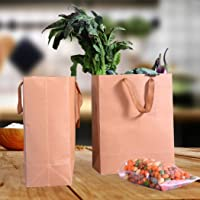50x Brown Paper Bag Kraft Eco Recyclable Gift Carry Shopping Retail Bags Handles 25(L) x33(H) x13(W) cm 25(L) x33(H) x13…