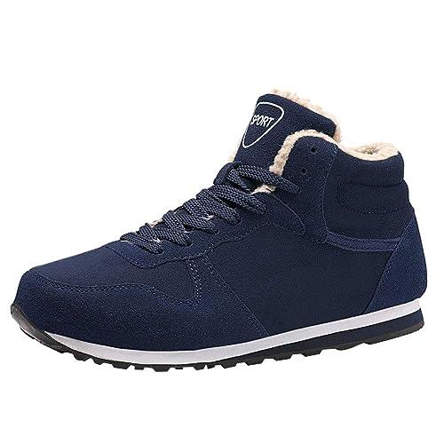c5eefa3e47285 Chaussures de Sports Homme CIELLTE 2018 Mode Bottes de Neige Fourrure  Sneakers Automne Hiver Boots Chaussure