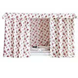 FANCY PUMPKIN Rural Style Flowers Bunk Bed Curtains Dustproof Bedroom Curtains Shading Cloth for Bunk Bed, B