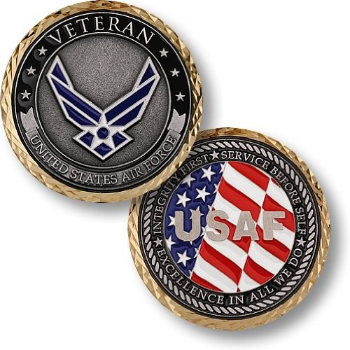 U.S. Air Force Veteran Challenge Coin… (Challenge Coin Air Force)