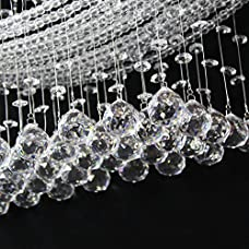 Ella Fashion Modern Gergours Chandelier Rain Drop Lighting Crystal Ball Fixture Beautiful