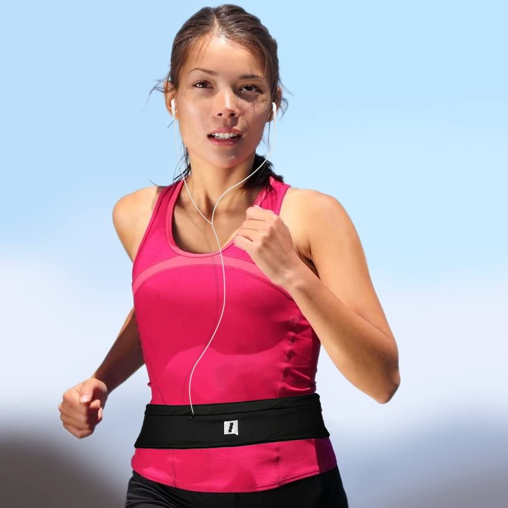 Money /& Cards Hiking CampTeck Running Belt Pouch Fitness Waist Pack Sports Belt for Running Walking Suitable for Smartphones Keys Cycling