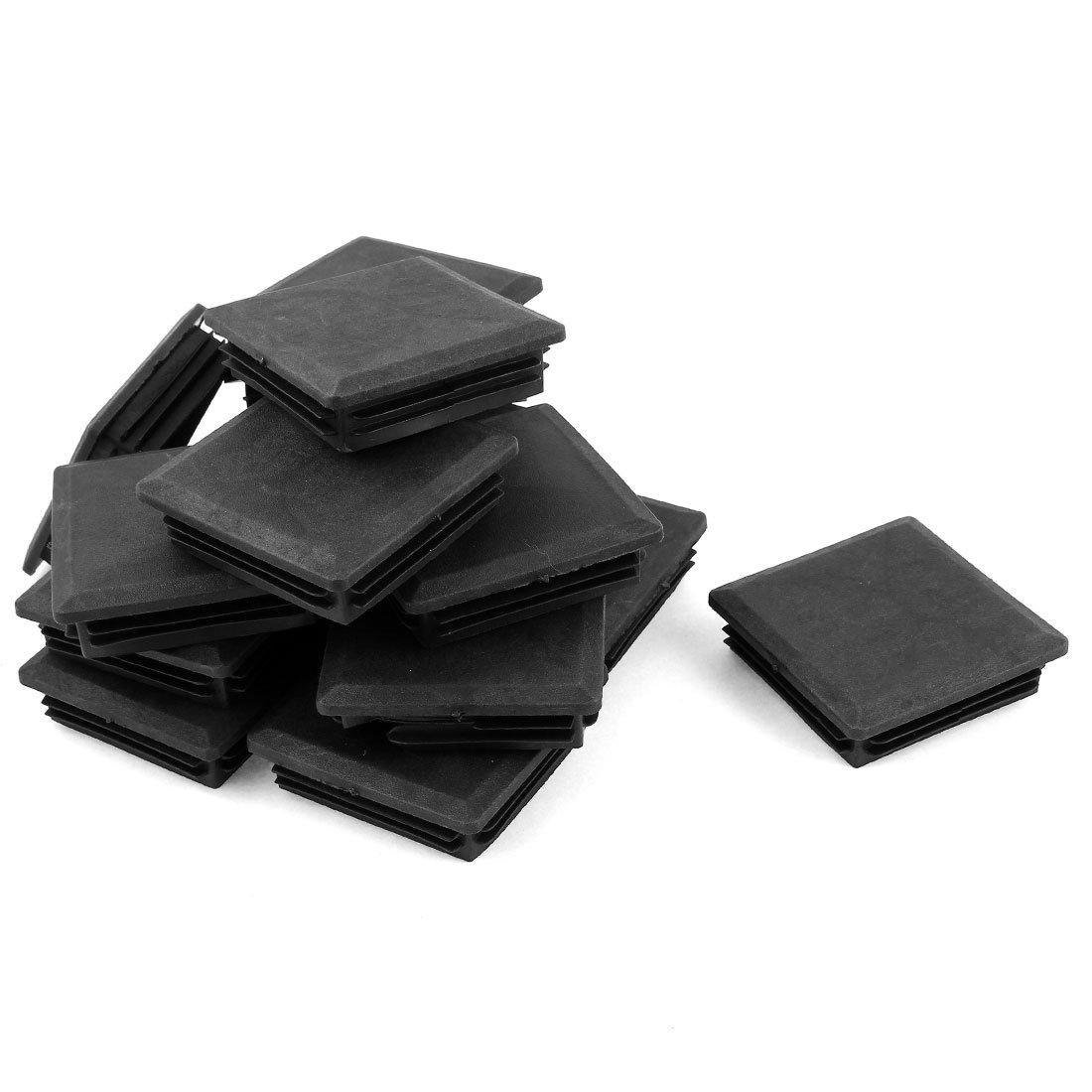 sourcingmap 24 pezzi nero plastica quadrato tappo chiusura segare tubo inserti 80mm x 80mm a14091000ux0093