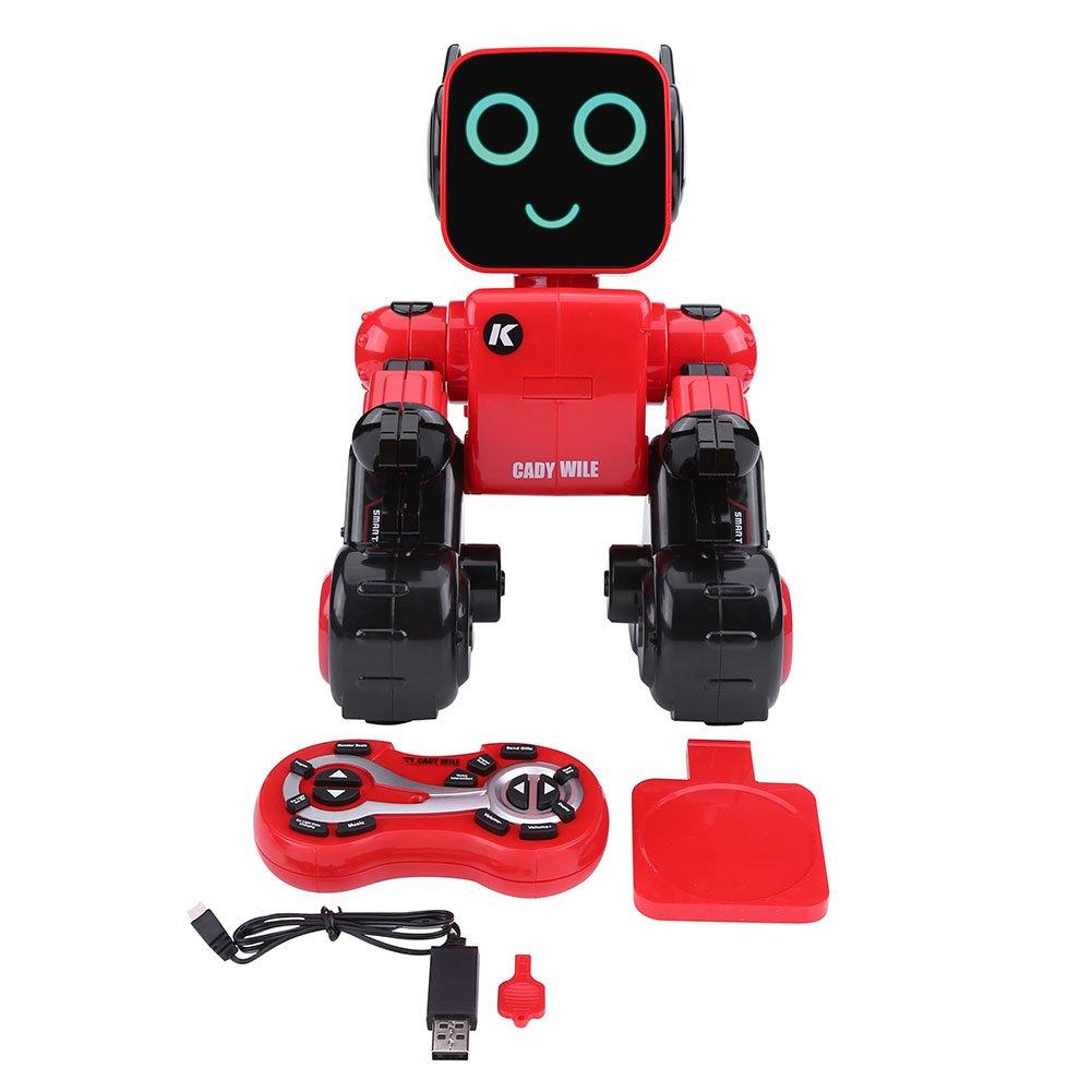 2.4GHz RC Robot Toy, Sing Dance Sound Control Children Remote Control Intelligent Robot Model Toy(Red) VGEBY