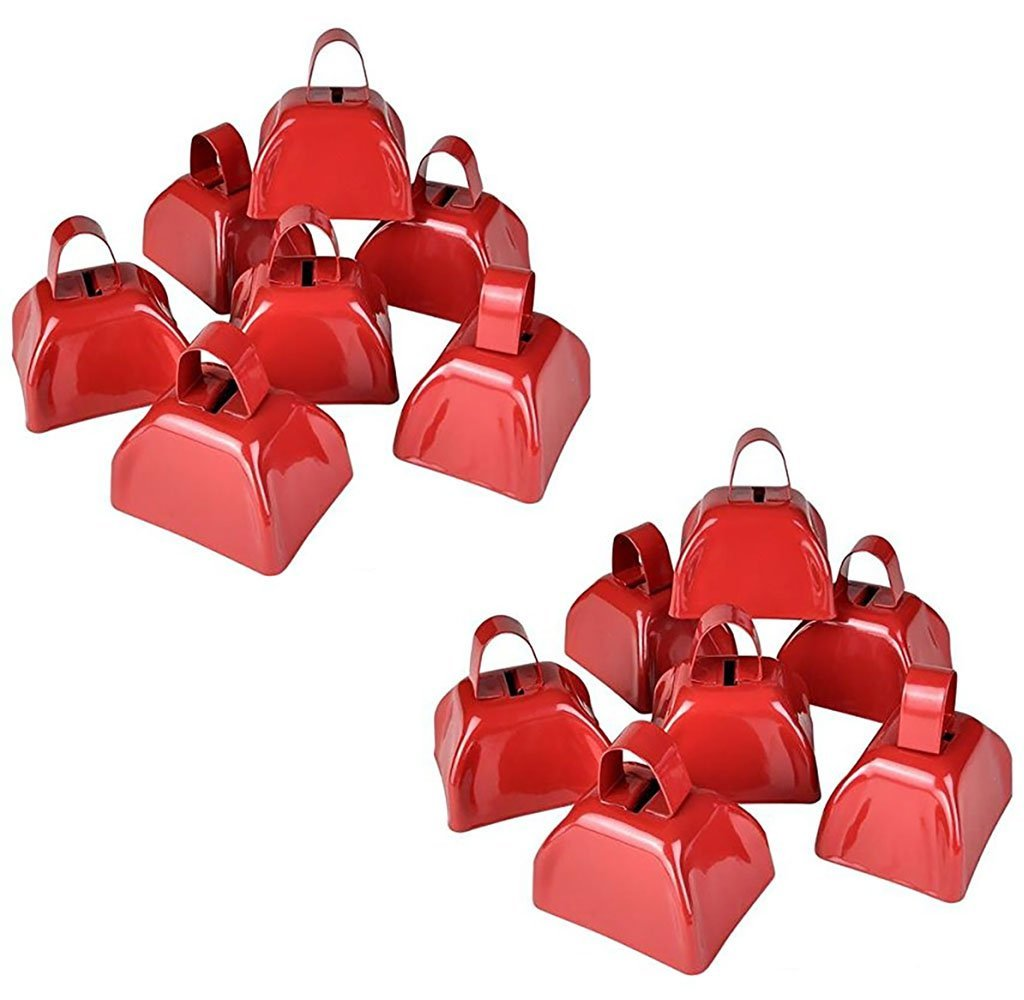 24 3'' Metal Cowbell - Red by Bottles N Bags