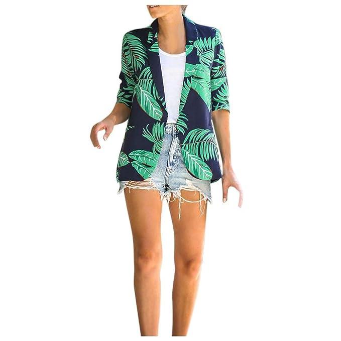 Amazon.com: Coolred-Women - Blazer de estilo hawaiano para ...