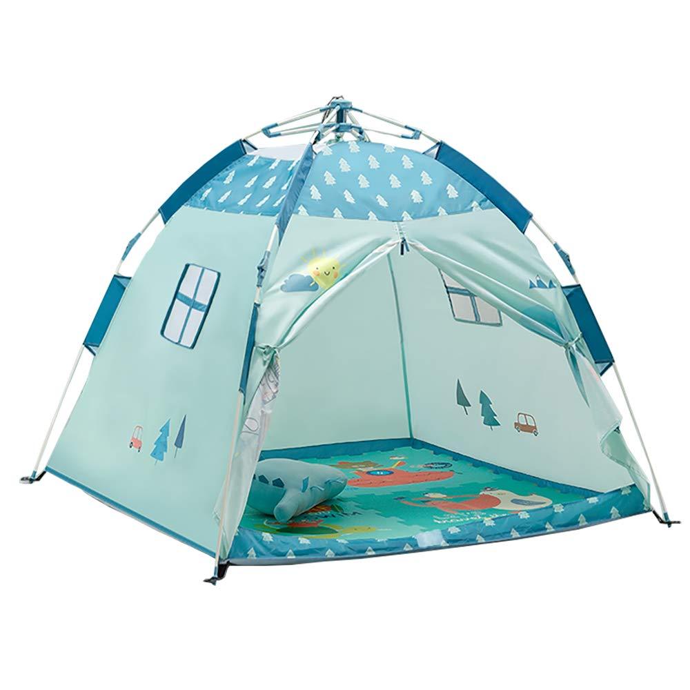 wadwo Kinderzelt Faltbares Spielhaus Jungen und Mädchen Forest Cottage Zelt - Geeignet für den Innen- und Außenbereich Blau 2 121218CM