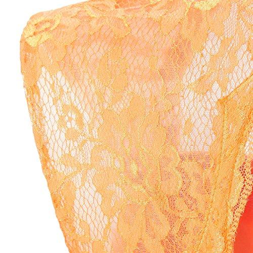 Alagirls Des Femmes De Bretelles En Dentelle Longues Robes De Fête De Mariage De Robe De Demoiselle D'honneur En Mousseline De Soie Bleu Marine