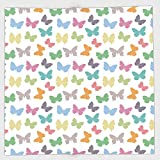 Cotton Microfiber Hand Towel,Butterfly,Soft Colored Spring Season Animal Silhouettes in Various Forms Abstract Nature Decorative,Multicolor,for Kids, Teens, and Adults,One Side Printing