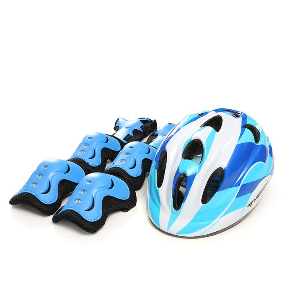 Kinderhelm Kinder Sport Schutzausrüstung Set Mit Helm Ellenbogen Knie Handgelenk Sicherheits Pad Schutz Für Rollerblading Fahrrad BMX Skateboard Outdoor-aktivitäten Skateboard-Helm für Kinder