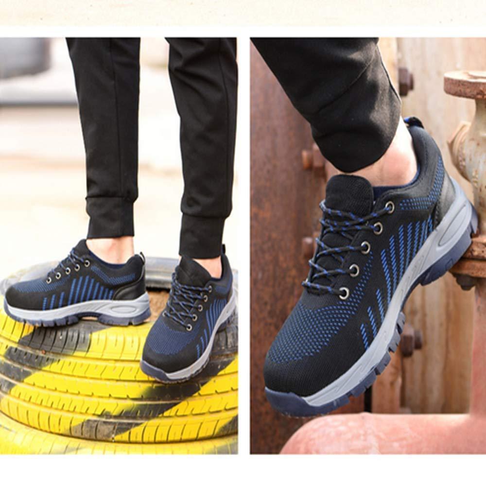 KINGLEN Steel Toe Breathable Industrial Construction Shoes for Men Women Weaving Work Safety Shoes (8 Women / 6.5 Men, Blue) by KINGLEN (Image #6)