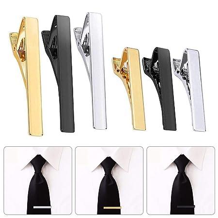 Baiwka - Juego de 6 Clips de Corbata para Hombre, diseño clásico ...