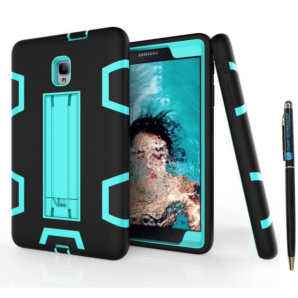 Tab A 8.0 2017 T380 Case DWaybox Shock-Absorption 3 in 1 Combo Hybrid Heavy Duty Armor Hard Back Case Cover for Samsung Galaxy Tab A 8.0 2017 T380/T385/Tab A2 S 2017 (Mint Green + Hot Pink) Samsung Tab A 8.0 2017 SM-T380/T385