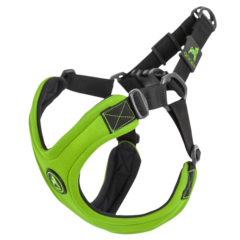 Lime Large chest (1922.5\Gooby  Escape Free Sport Harness, Small Dog Stepin Neoprene Harness for Dogs That Like to Escape Their Harness, Lime, Large