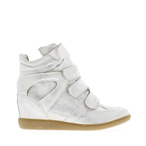 Levantamiento de cuña zapatillas doradas 6cm - 41: Amazon.es: Zapatos y complementos
