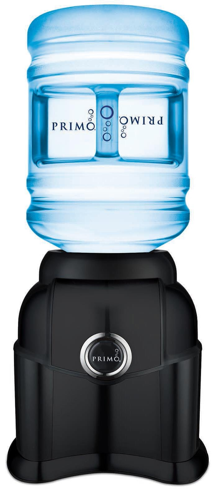 Primo Top Loading Countertop Water Dispenser - Room Temperature - Supports 3 or 5 Gallon Water Jugs [Black]