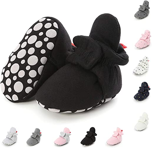 Kids Carters Moccasin Slipper Socks Booties Non Slip Sole Baby Infant Boys Girls