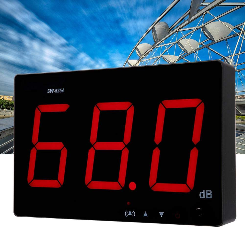 Wall Mounted Sound Level Meter, 30-130dB Digital Sound Level Meter with Large LCD Display Noise Meter Decibel Wall Mounted Hanging by Nannday