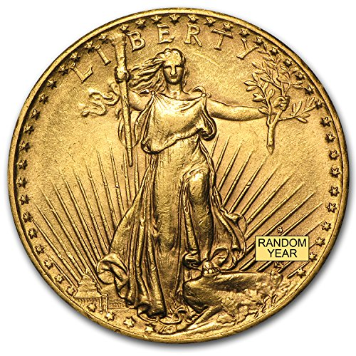 (1907-1933 $20 Saint-Gaudens Gold Double Eagle AU (Random Year) G$20 About Uncirculated )