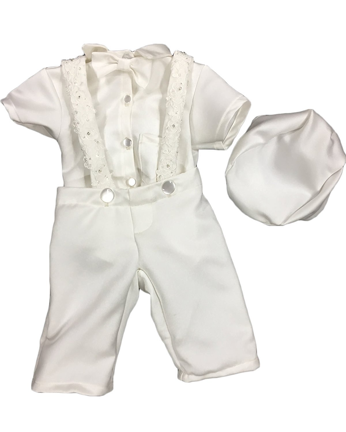 Newdeve Baby Boys Christening Outfit Baptism Infant 3 Pieces With Pants