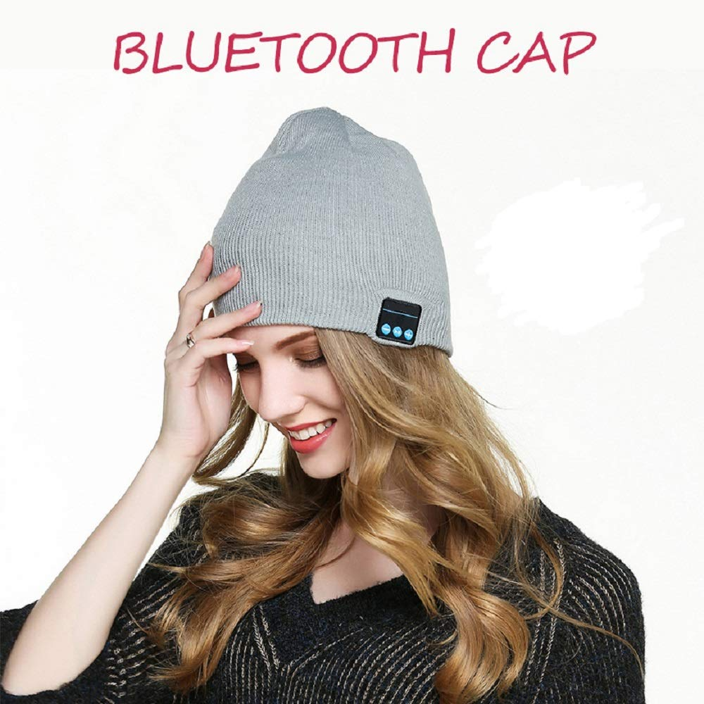 Awesome Christmas Tech Gifts for Women Men Teen Boys Girls BALANSOHO Bluetooth Beanie Hat Wireless Musical Knit Cap Washable with Stereo Speakers /& Mic Fit for Outdoor Sports