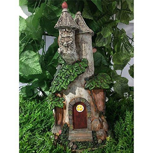 Hi-Line Gift Ltd Fairy Garden Castle with Solar LED Lights