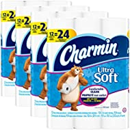 Charmin Ultra Soft Toilet Paper, Bath Tissue, Double...