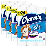 Toilet Tissue Holder Charmin Ultra Soft Toilet Paper, Bath Tissue, Double Roll, 48 Count