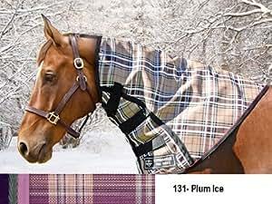 Kensington KPP Supermesh Turnout Full Hood, Plum Ice Plaid, Large
