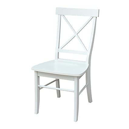 International Concepts C31 613P Pair Of X Back Chairs, Linen White