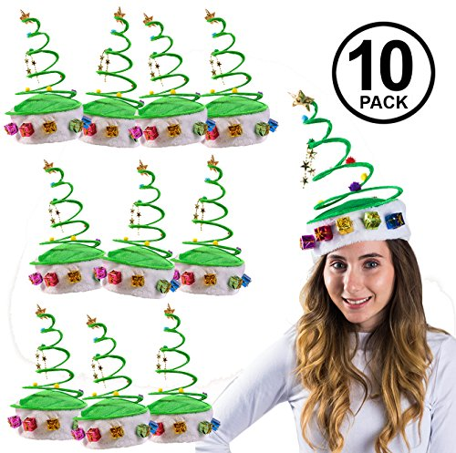 Funny Party Hats Springy Christmas Hat - Springy Christmas Tree -