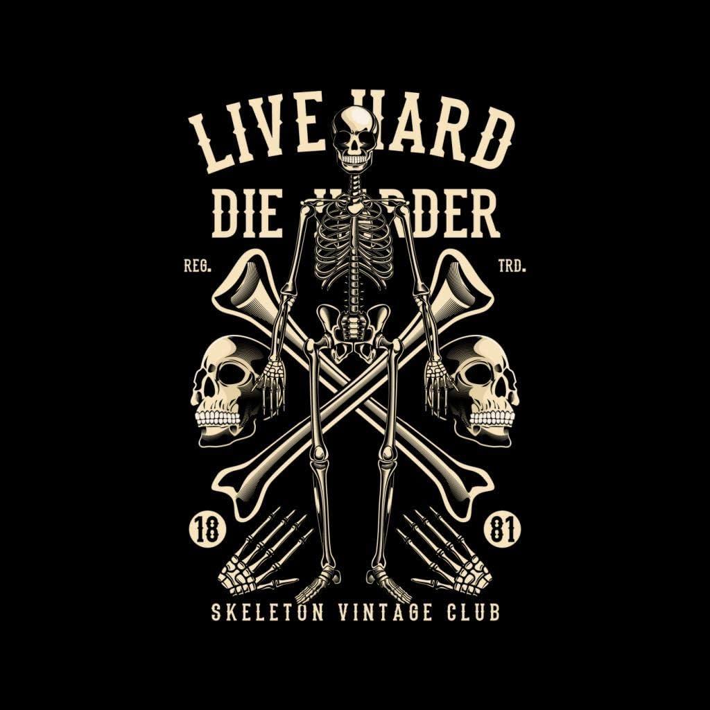 Coto7 Live Hard Die Harder Skeleton Kids T-Shirt