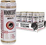 MOONSHOT Sparkling Tart Cherry Energy Drink • 30% Juice • 115mg Caffeine • Pure Cane Sugar • No Artificial Flavors, Sweeteners, Colors or Preservatives • The Best Energy Drink Ever