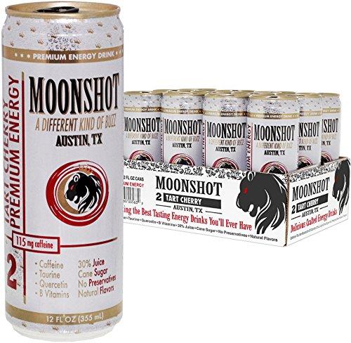 MOONSHOT Sparkling Tart Cherry Energy Drink