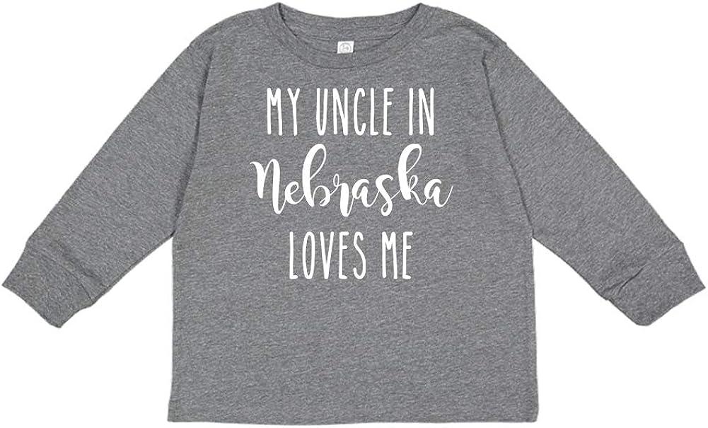 My Uncle in Nebraska Loves Me Toddler//Kids Long Sleeve T-Shirt