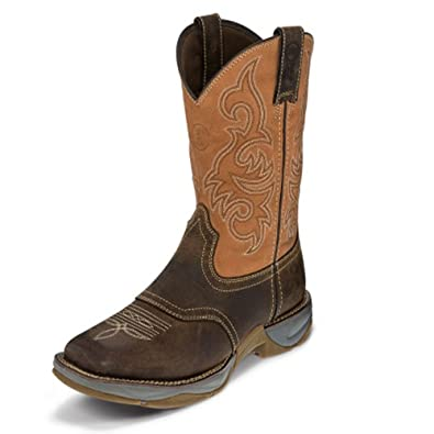 "Men's Junction Dusty 11"" height (RR3351)  Foot Dusty San Antone  Pullon Western Boots  Browns Cowboy Leather Boot  Handcrafted In The USA"