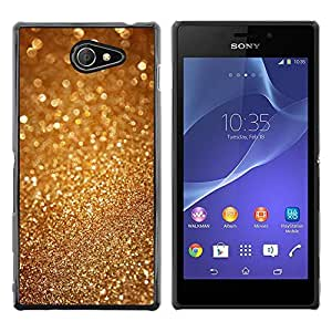 PC/Aluminum Funda Carcasa protectora para Sony Xperia M2 gold dust sparkle glitter bling metal / JUSTGO PHONE PROTECTOR
