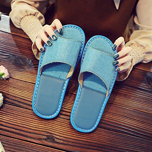 morbide pantofole anti fondo interno 38 donne di paio un uomini pantofole Estate 37 di ciabattine blu e fankou slittamento home pianale OqwaAn5
