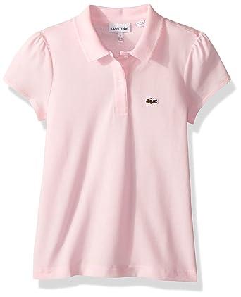 a727e73cab637 Amazon.com  Lacoste Girl Short Sleeve Mini Pique Iconic Polo  Clothing