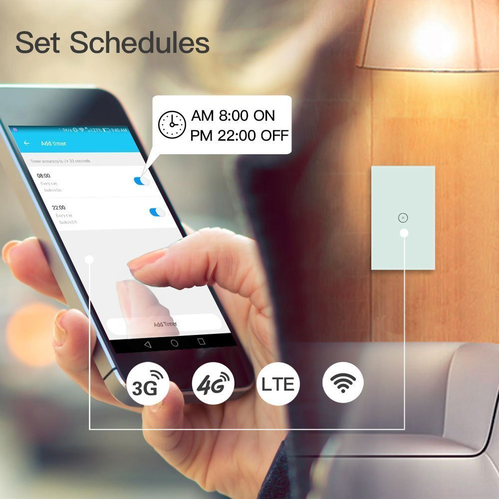 Smart Wifi Light Switches Touch Wall Switch Panel