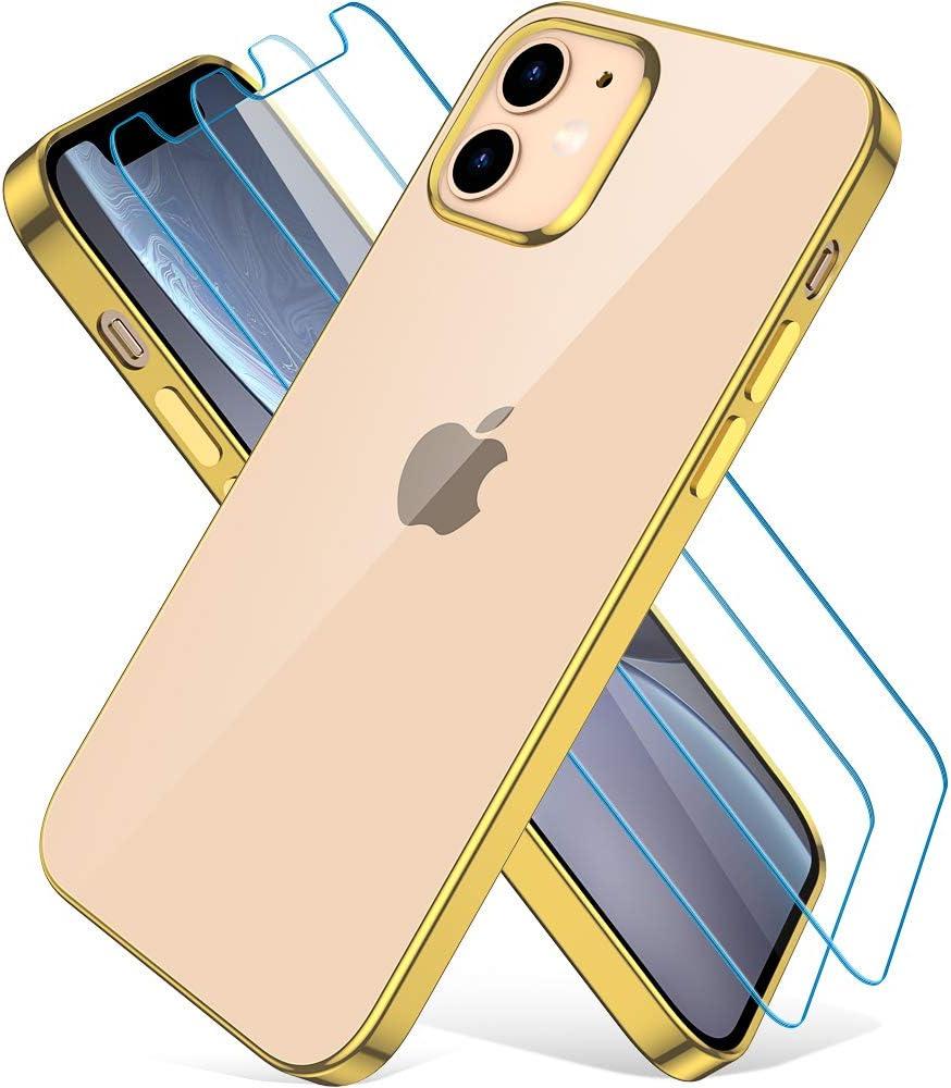 Wiselead Hülle Für Iphone 12 Mini 5 4 Zoll Golden Elektronik